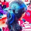 画像17: 【官网】Mysterious Blue M25 神秘的蓝色(蓝色)炫彩涂发膏36g【日本制】【无香料】【能用洗发液一下子冲洗掉的保持一天的漂亮发色】 (17)