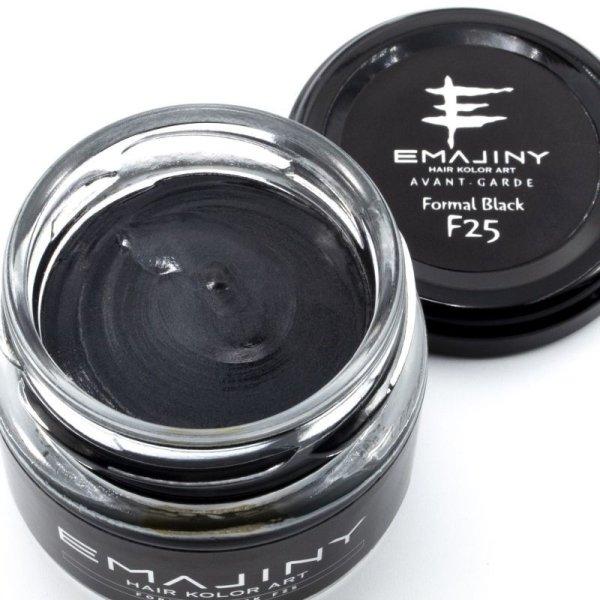 画像1: Formal Black F25 フォーマルブラックカラーワックス(黒)36g 【日本製】【無香料】【シャンプーでサッと洗い流せる1日黒髪】 (1)